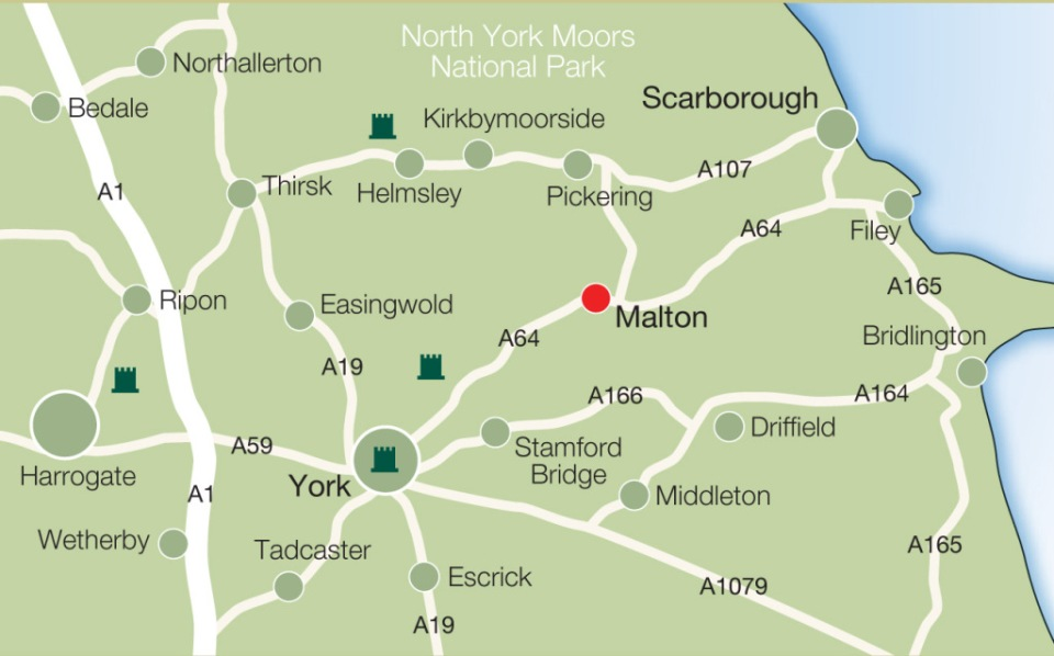 Map of area surrounding Malton